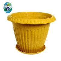 Горшок для цветов ЭКО Антик″ 19*25см SHY-25 желтый купить оптом и в розницу