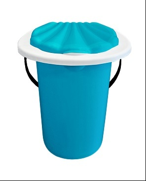 Ведро-туалет синий  20 л*6 купить оптом и в розницу