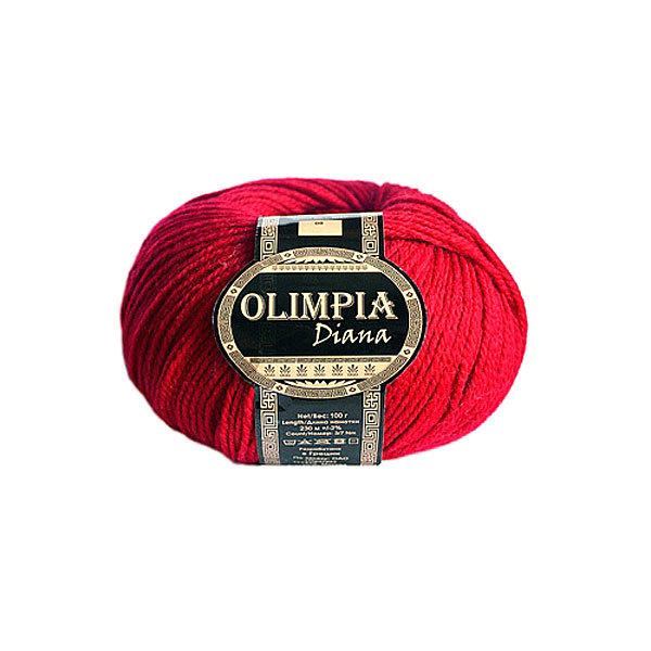 Пряжа для вязания Olimpia Diana цв.09 клубника 500г 5шт купить оптом и в розницу