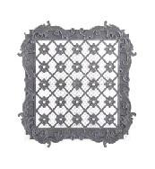 Решётка вентиляционная (200х200х56)(бело-серый)(уп.20) (Октябрьский) купить оптом и в розницу