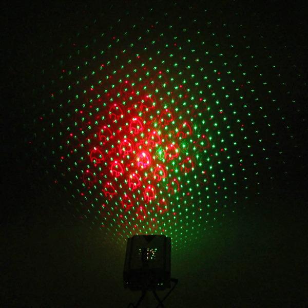 Световой прибор Лазер М-015A, RG, mic+авто, 3 режима, клубника, месяц, рыбка, точка купить оптом и в розницу