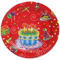 Тарелка бумажная 18 см в наборе 10 шт ″День рождения″ 10 купить оптом и в розницу