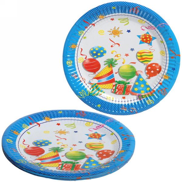 Тарелка бумажная 18 см в наборе 10 шт ″День рождения″ 11 купить оптом и в розницу