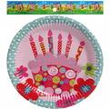 Тарелка бумажная 18 см в наборе 10 шт ″День рождения″ 12 купить оптом и в розницу
