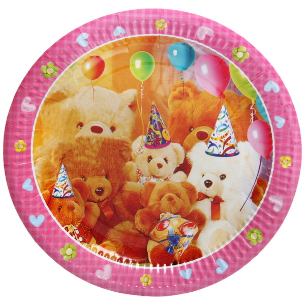 Тарелка бумажная 23 см в наборе 10 шт ″День рождения″ 8 купить оптом и в розницу