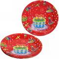 Тарелка бумажная 23 см в наборе 10 шт ″День рождения″ 10 купить оптом и в розницу