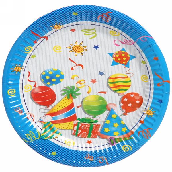 Тарелка бумажная 23 см в наборе 10 шт ″День рождения″ 11 купить оптом и в розницу