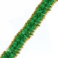 Мишура 2м 7см ″Вспышки карнавала″ золото/зеленый купить оптом и в розницу