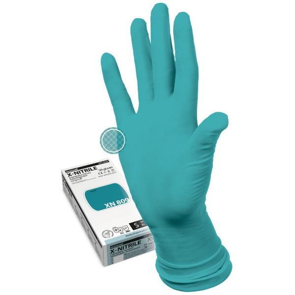 Перчатки MANUAL XN809 нитриловые нестерильные неопудреные повышеной прочности 25 пар XL купить оптом и в розницу