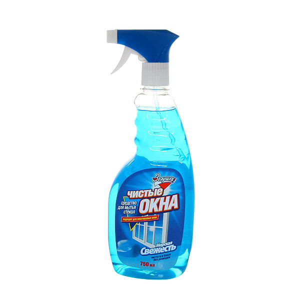 Средство для мытья стекол ЗОЛУШКА Чистые окна Морская свежесть с триггером 750мл Ч21-10 купить оптом и в розницу