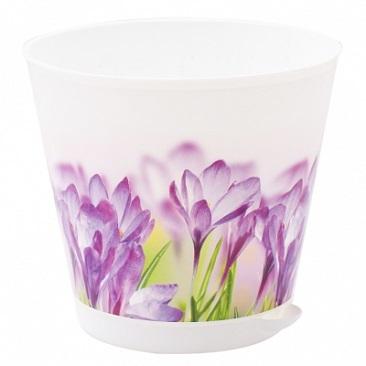 Горшок для цветов Крит D 160 mm с системой прикорневого полива 1,8л Ирис *16 купить оптом и в розницу