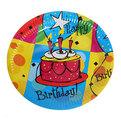 Тарелка бумажная 23 см в наборе 10 шт ″День рождения″ 2 купить оптом и в розницу