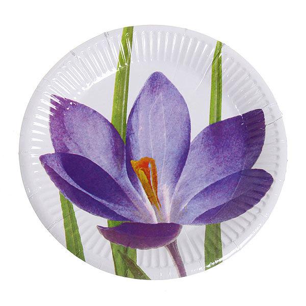 Тарелка бумажная 18 см в наборе 10 шт ″Цветы″ 03 купить оптом и в розницу