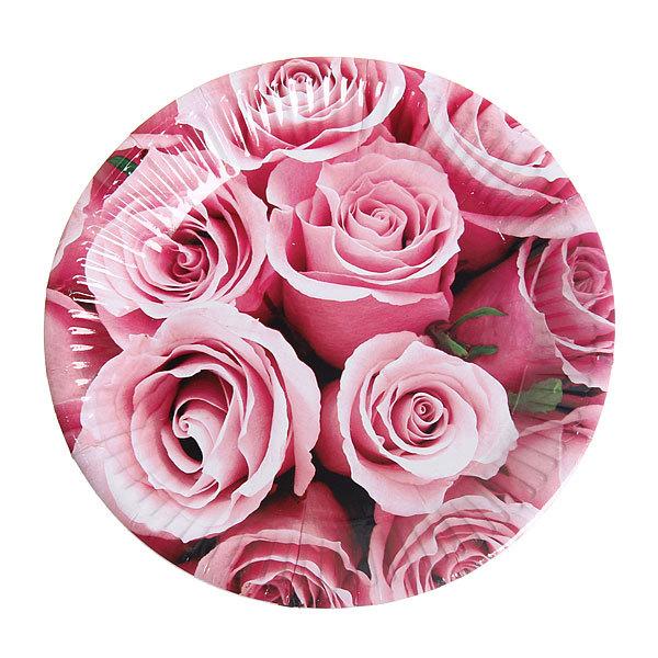 Тарелка бумажная 18 см в наборе 10 шт ″Цветы″ 04 купить оптом и в розницу