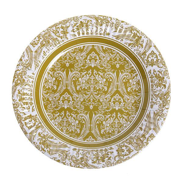 Тарелка бумажная 18 см в наборе 10 шт ″Цветы″ 07 купить оптом и в розницу
