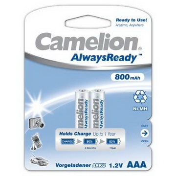 Аккумулятор Camelion R-03/AАA/ 800 mAh Ni-Mn Always Ready BL*2 купить оптом и в розницу