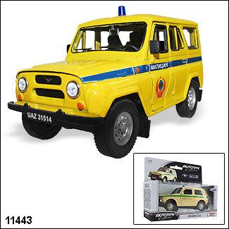 Модель УАЗ 31514  Сов. милиция 11443 1:34/39 купить оптом и в розницу