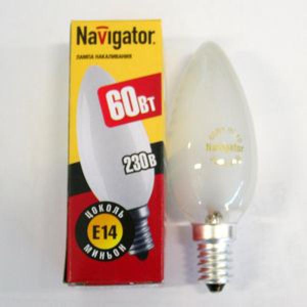 Лампа накаливания Navigator NI-В-60Вт-E14-230В-FR матов.свеча (10/100) купить оптом и в розницу