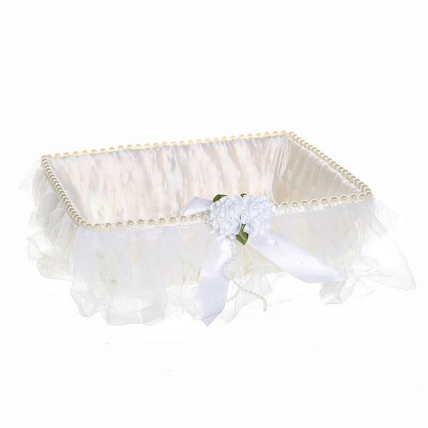 Корзина декоративная плетеная (1шт) с тканью 6,5*21,5*17см 127 - 1 купить оптом и в розницу