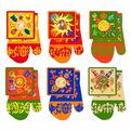 Прихватка в наборе с варежкой ″Праздник Солнца″ 6 дизайнов купить оптом и в розницу