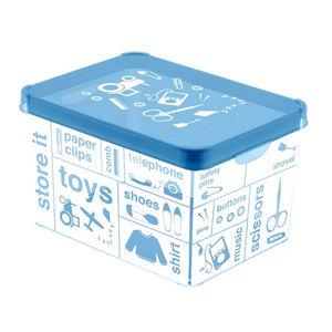 Коробка декоративная STOCKHOLM XL TYPOGRAPHY /*10 шт (39,5х29,5х25)см Curver купить оптом и в розницу