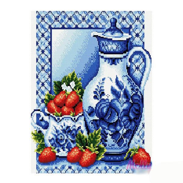Набор ДТ Картина мозаикой Кувшин в стиле гжель GZ286 купить оптом и в розницу