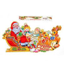 Плакат новогодний 46*80 см Дед Мороз С Новым Годом! купить оптом и в розницу