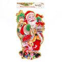 Плакат новогодний 45*24 см Дед Мороз с подарками купить оптом и в розницу