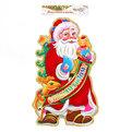 Плакат новогодний 54*35 см Дед Мороз с оленем купить оптом и в розницу