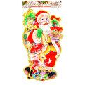 Плакат новогодний 75*43 см Дед Мороз с подарками купить оптом и в розницу