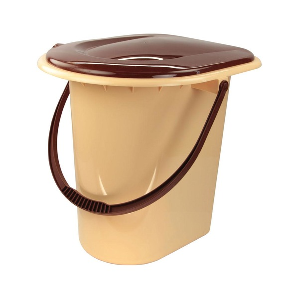 Ведро-туалет пл 17 л коричневый (Октябрьский)*10 купить оптом и в розницу