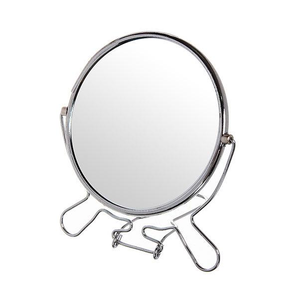 Зеркало настольное в металлической оправе ″Модерн″ круг, одностороннее d12,5см купить оптом и в розницу