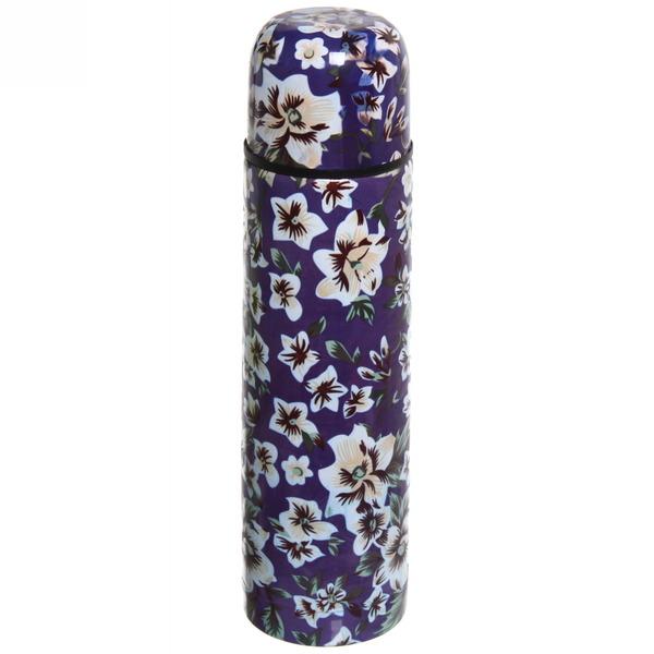 Термос с металлической колбой 500 мл ″Селфи″ ″ Синий цветок″ купить оптом и в розницу