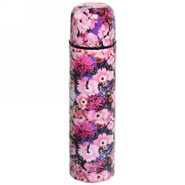 Термос с металлической колбой 500 мл ″Селфи″ ″ Розовый цветок″ 16121-26 купить оптом и в розницу