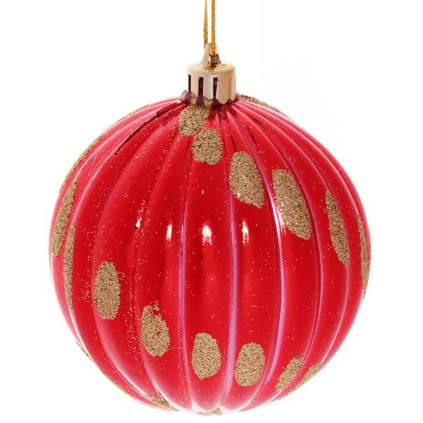 Новогодние шары ″Новогодние светлячки″ 8см (набор 2шт.) купить оптом и в розницу