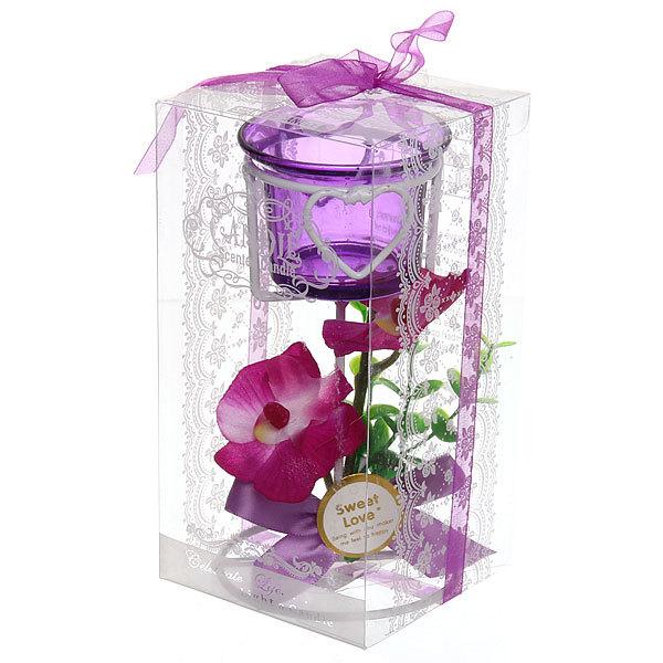 Подсвечник ″Орхидея Сиреневая″ 14.5см РХ050 купить оптом и в розницу