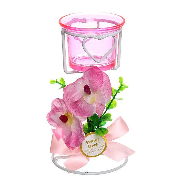 Подсвечник ″Орхидея Розовая″ 14см РХ200 купить оптом и в розницу