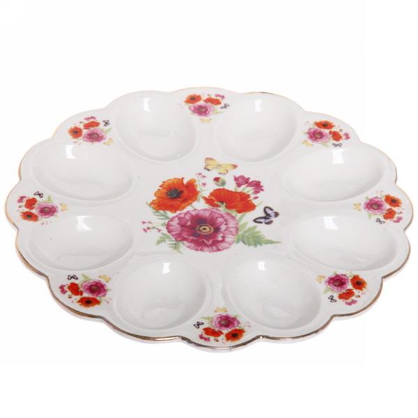 Тарелка для яиц 22см ″Цветы″ 2 купить оптом и в розницу