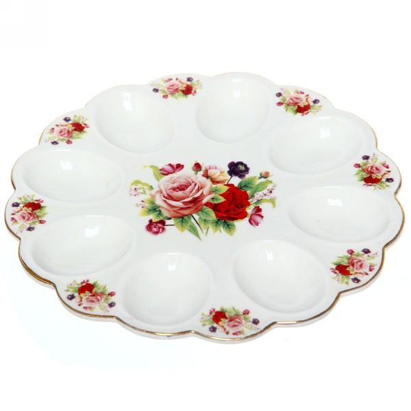 Тарелка для яиц 22см ″Цветы″ 3 купить оптом и в розницу