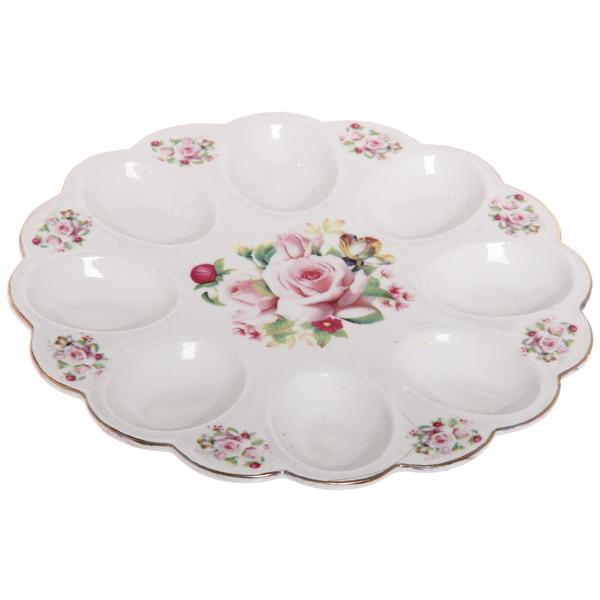 Тарелка для яиц 22см ″Цветы″ 4 купить оптом и в розницу