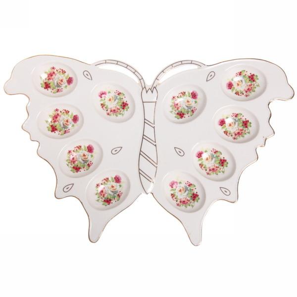 Тарелка для яиц ″Бабочка″ 34,5*22,5см купить оптом и в розницу