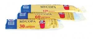 пакеты д/мусора 120 л./10 шт. (мультипласт) 1*30 купить оптом и в розницу