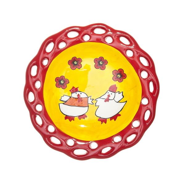 Тарелка керамическая ″Цыплята с узором″ 15см купить оптом и в розницу