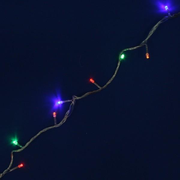 Гирлянда светодиодная 24м, 300 ламп LED, Мультицвет, 8 реж, прозр.пров. купить оптом и в розницу