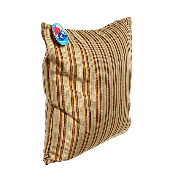 Подушка декоративная 44*44см ″Восточный уют″ полоски узкие коричневые купить оптом и в розницу
