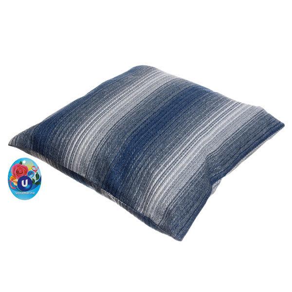 Подушка декоративная 44*44см ″Уют″ волна синяя купить оптом и в розницу