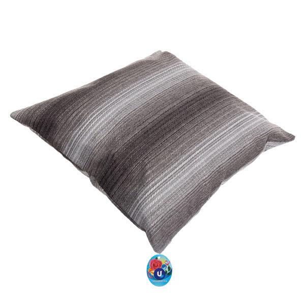 Подушка декоративная 44*44см ″Уют″ волна черная купить оптом и в розницу