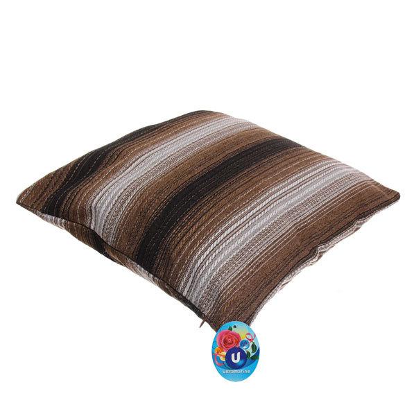 Подушка декоративная 44*44см ″Уют″ волна коричневая купить оптом и в розницу