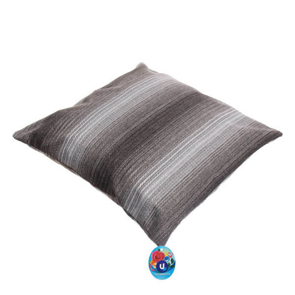 Подушка декоративная 44*44см ″Уют″ волна серая купить оптом и в розницу