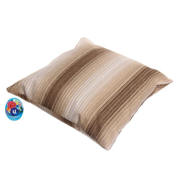 Подушка декоративная 44*44см ″Уют″ волна бежевая купить оптом и в розницу